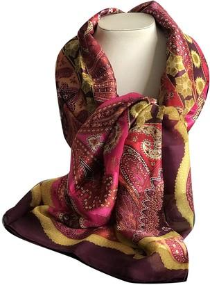 Christian Dior Burgundy Silk Scarves