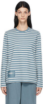 Thumbnail for your product : Marc Jacobs Blue & White 'The Striped T-Shirt' Long Sleeve T-Shirt