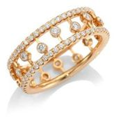 De Beers Dewdrop Diamond & 18K Pink Gold Ring