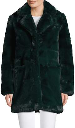 Apparis Notch Collar Faux Fur Coat