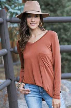 Grace & Lace Perfect-Pocket Tee-Cider