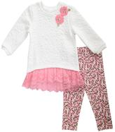 Youngland Toddler Girl Lace Sweater Dress & Leggings Set