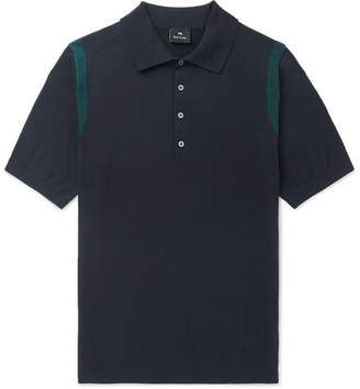 Paul Smith Knitted Cotton Polo Shirt