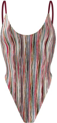 Missoni Mare striped fitted one piece
