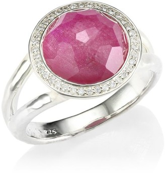 Ippolita Lollipop Small Sterling Silver, Doublet & Diamond Ring