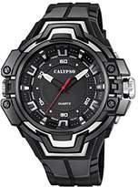 Calypso Unisex Quartz Watch with Black Dial Analogue Display and Black Plastic Strap K5687/7