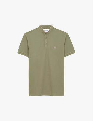 The Kooples Sport Logo-embroidered cotton-pique polo shirt