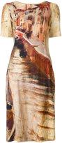 Alberta Ferretti Abito painting print dress