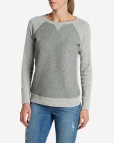 Eddie Bauer Women's Legend Wash Quilted Sweatshirt