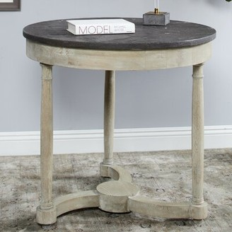 Ophelia & Co. Leah Solid Wood Dining Table & Co.