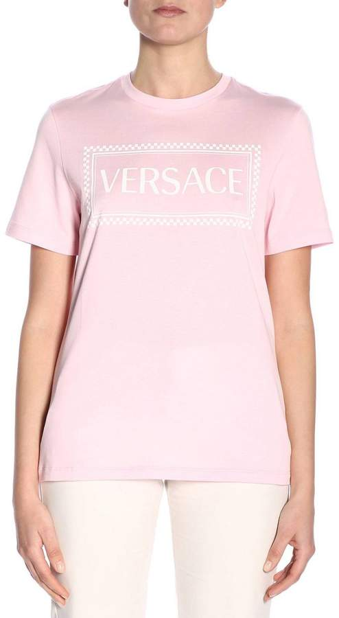48511f4e Versace Pink Women's Tees And Tshirts - ShopStyle