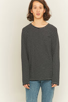 Nudie Jeans Orvar Black And White Long Sleeve Pocket T-shirt