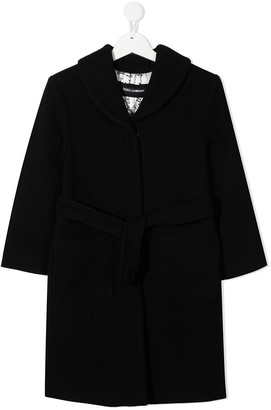 Dolce & Gabbana Kids Tie Waist Coat