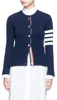 Thom Browne Stripe sleeve button cashmere cardigan