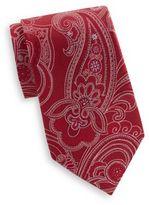 Saks Fifth Avenue Large Paisley Print Silk Tie