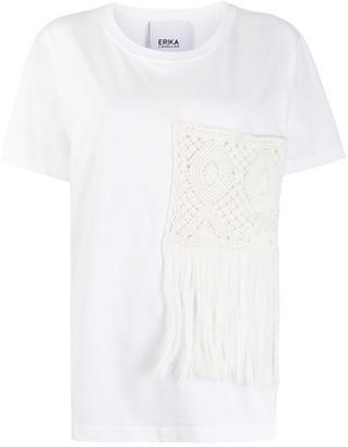 Erika Cavallini crochet pocket T-shirt