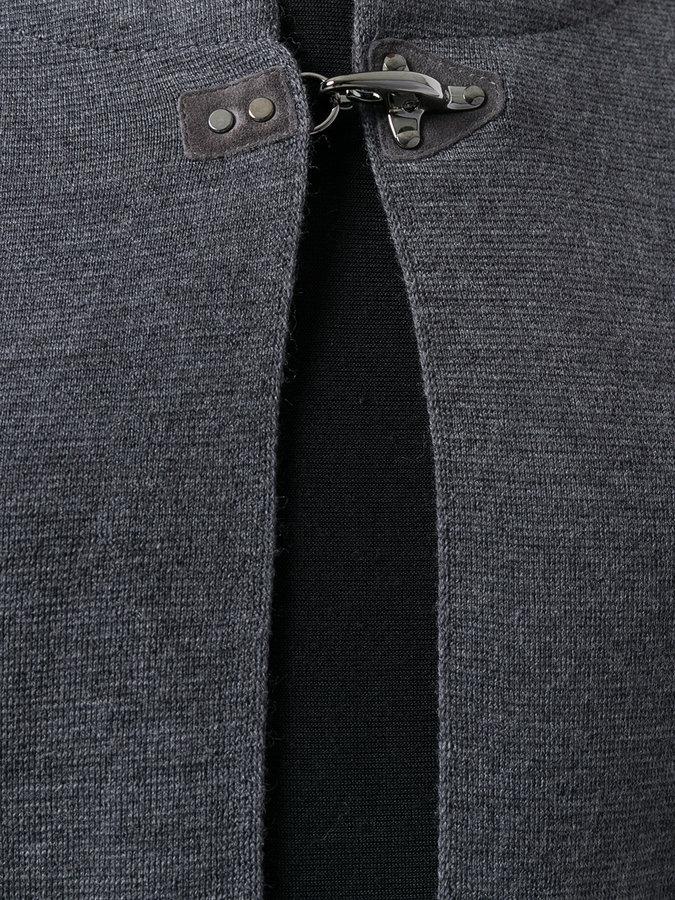 Fay plain buckled cardigan