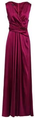 Talbot Runhof Draped Duchesse-satin Gown
