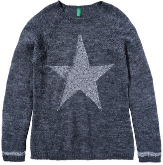United Colors of Benetton (Z6ERJ) Women's Maglia COREANA M/L 1091D5558 Cardigan Sweater