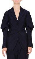 Jil Sander Wing-Sleeve Two-Button Jacket, Navy