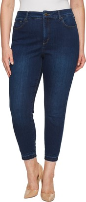NYDJ Women's Size Plus Sheri Slim Ankle with Mini FRAY Hem