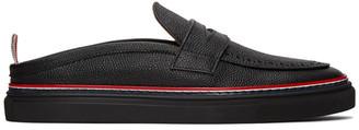 Thom Browne Black Slip-On Penny Loafers
