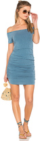 Sundry Off the Shoulder Dress in Blue. - size 3 / L (also in )