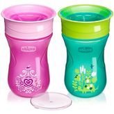 Chicco NaturalFit® 2-Pack 9 oz. Insulated Rim-Spout Trainer Cups in Pink/Purple