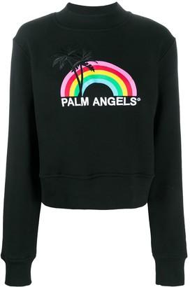 Palm Angels Rainbow crewneck sweatshirt