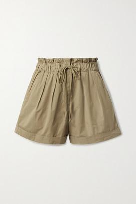 Sea Giselle Stretch-cotton Shorts - Beige
