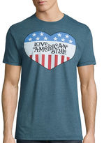 Novelty T-Shirts Short-Sleeve Love American Style Tee