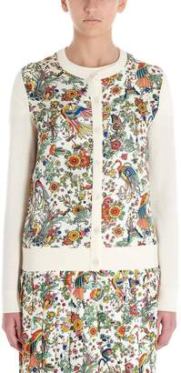 Tory Burch Floral Printed Cardigan
