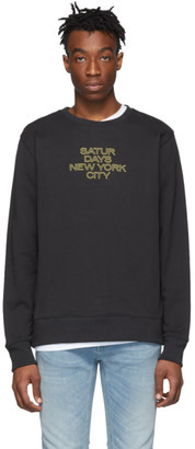 Saturdays NYC Black Outline Logo Sweatshirt