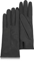 Forzieri Women's Black Unlined Italian Leather Gloves