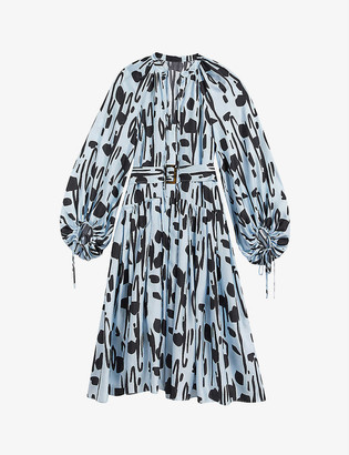 Ted Baker Leppiey graphic-print silk dress