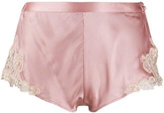 La Perla Lace Trimmed Pajama Shorts