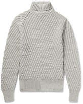 Tom Ford Cashmere And Wool-blend Rollneck Sweater - Gray