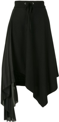 Shanshan Ruan Asymmetric Pleated Skirt