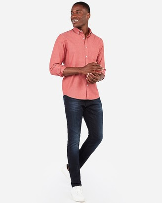 Express Slim Button-Down Soft Wash Shirt