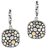 Effy Diamond and 18K Gold-Plated Sterling Silver Omega Drop Earrings