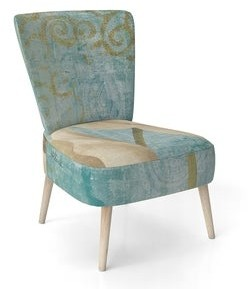 Design Art Designart 'Bouquet Poppies On Paisley I' Upholstered Cottage Accent Chair