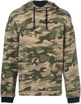 Balmain camouflage print hoodie - men - Cotton - XL
