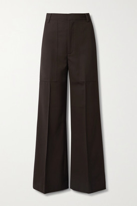 Co Twill Wide-leg Pants - Dark brown