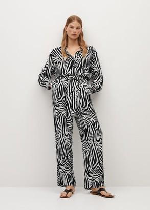MANGO Zebra print trousers