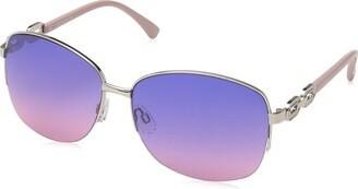 Rocawear Women's R3291 Slvrs Non-Polarized Iridium Round Sunglasses