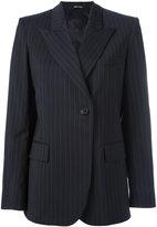 Maison Margiela pinstripe peak lapel blazer - women - Virgin Wool/Viscose - 42