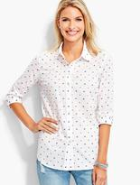 Talbots The Classic Casual Shirt - Clip Dots