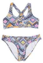 OndadeMar Toddler's, Little Girl's & Girl's Two-Piece Fressia Multicolored Bikini
