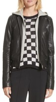 A.L.C. Women's Edison Leather Jacket With Removable Hooded Inset