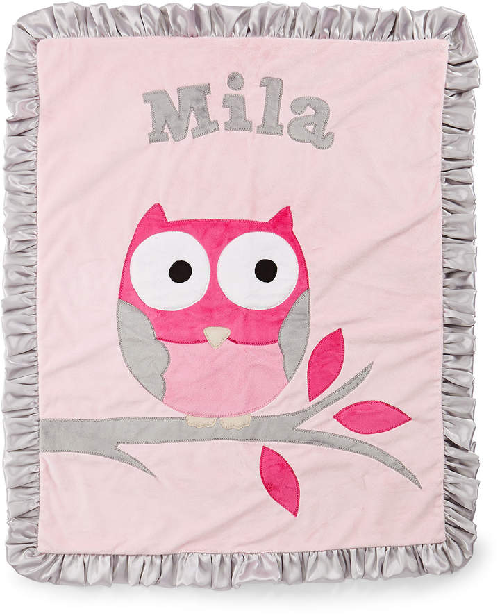 Boogie Baby It's a Hoot Plush Blanket, Pink